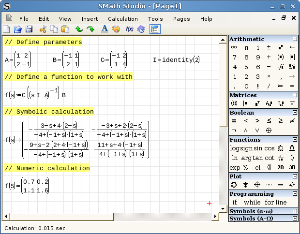 Smath studio on Linux