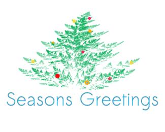 Fern Fractal Christmas card